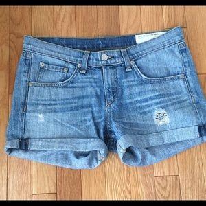 Rag & Bone Boyfriend Distressed Shorts